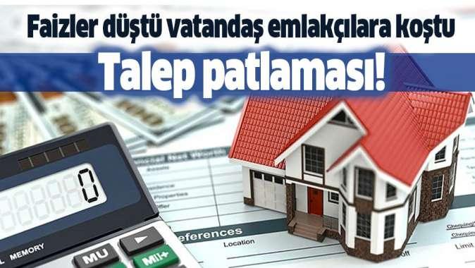 0.64 ve 0.74 faizle konut kredisine vatandaştan büyük ilgi! Konut satışlarında patlama!