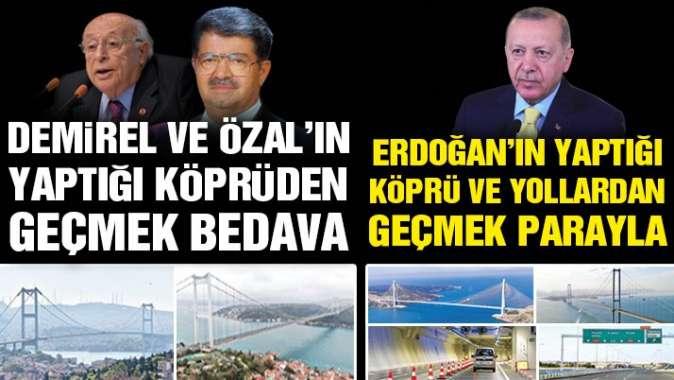 AKP'den öncekiler bedava sonra yapılanlar paralı
