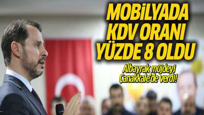 Albayrak: Mobilyada KDV oranı yüzde 8'e düşürüldü
