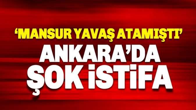 Ankara Büyükşehir Belediyesi'nde istifa şoku