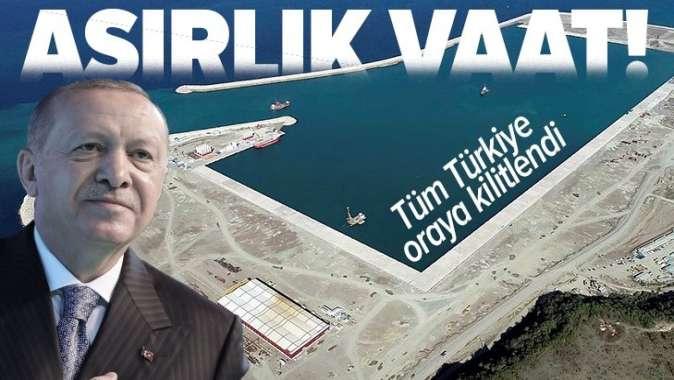 Asırlık vaat Filyos Limanı yarın Başkan Erdoğan tarafından hizmete açılacak.