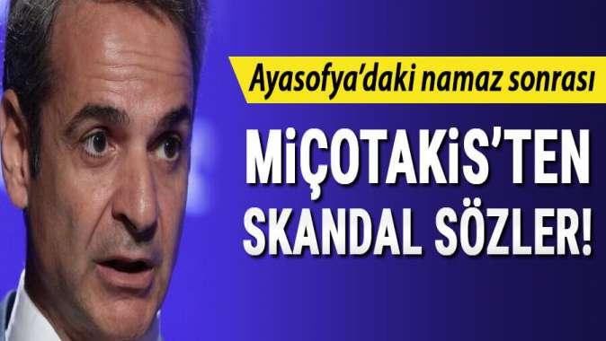 Ayasofya'da kılınan namaz sonrası Miçotakis'ten skandal sözler!
