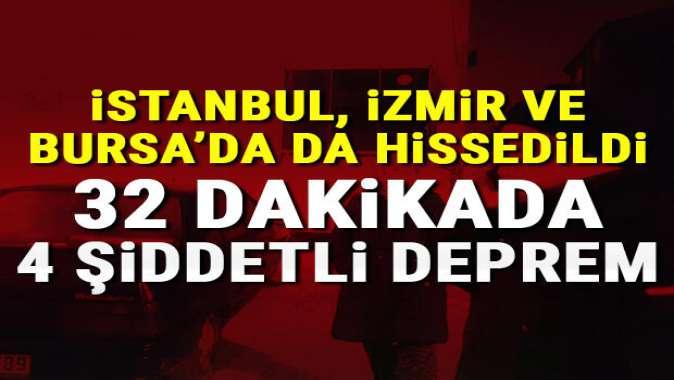 Balıkesir'de 32 dakikada 4 şiddetli deprem! İstanbul ve İzmir'de hissedildi!