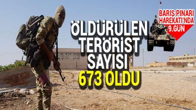 Barış Pınarı Harekâtı'nda etkisiz hale getirilen terörist sayısı 673 oldu