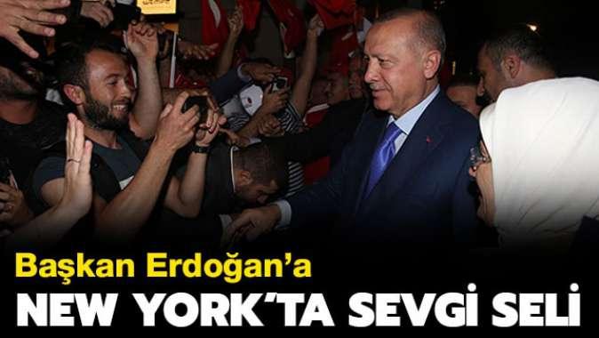 Başkan Erdoğana New Yorkta sevgi seli