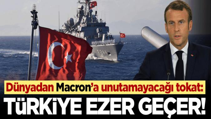 Batı medyası Macronu yerden yere vurdular! Türk donanması hepinizi ezer geçer
