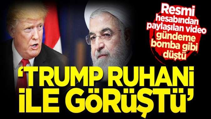 Beyaz Saray, Trump'ı Ruhani ile görüştürdü!