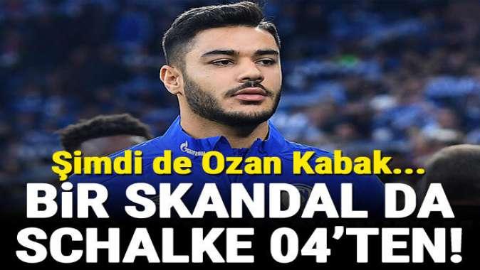 Bir skandal da Schalke'den! Ozan Kabak...