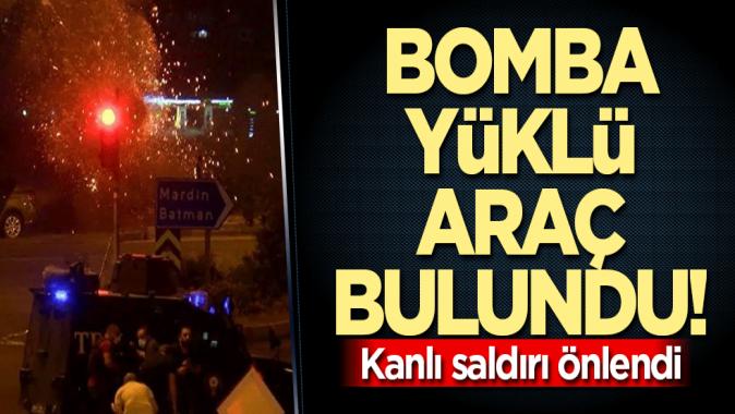 Bomba yüklü araç bulundu! Teröristler katliam yapacaktı