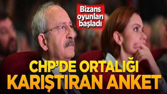 CHP'de Bizans oyunları başladı! Ortalığı karıştıran anket