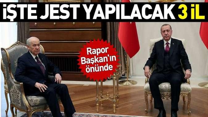 Cumhur İttifakı görüşmelerinde son aşama! Rapor Başkan Erdoğanın önünde.