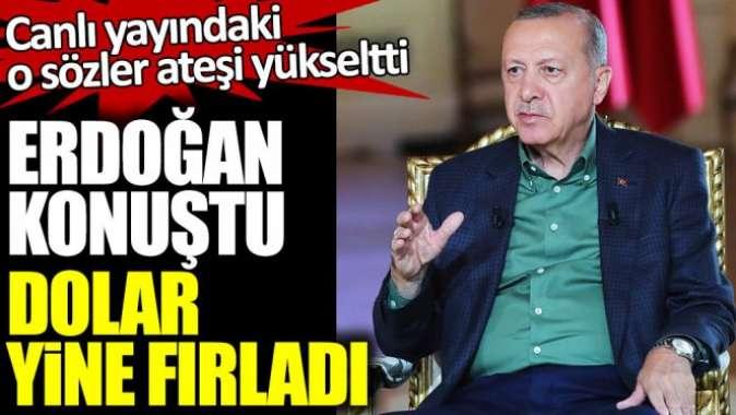 Cumhurbaşkanı Erdoğan konuştu Dolar yine fırladı!