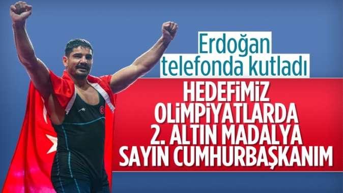 Cumhurbaşkanı Erdoğan, Taha Akgül'ü telefonla arayarak kutladı