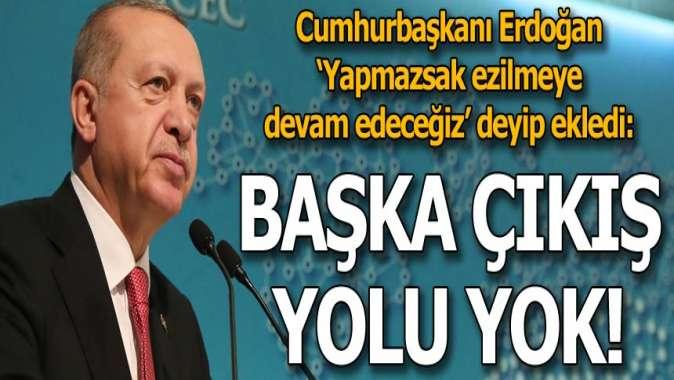 Cumhurbaşkanı Erdoğandan flaş açıklama! Başka yolu yok...