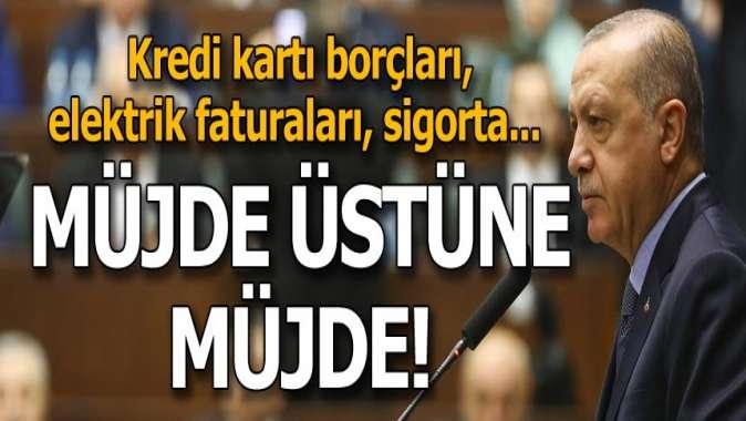 Cumhurbaşkanı Erdoğandan müjde üstüne müjde! Kredi kartı borcu olanlar...
