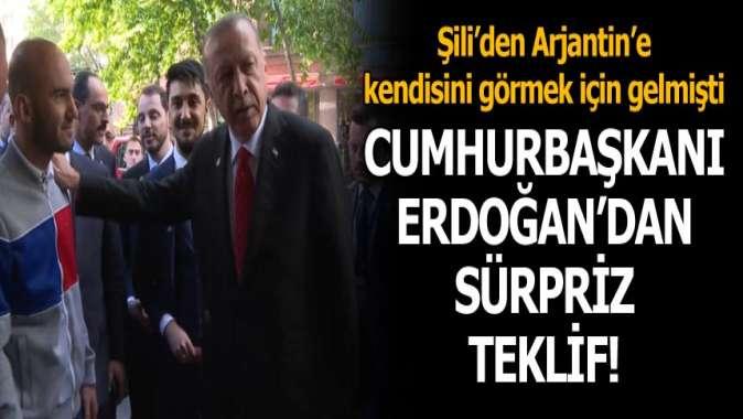 Cumhurbaşkanı Erdoğandan Türk gencine sürpriz davet!