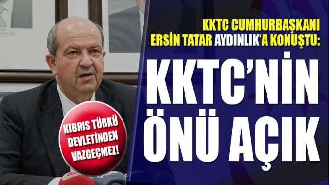 Cumhurbaşkanı Ersin Tatar, Cenevre sonrası :KKTC'nin önü açık