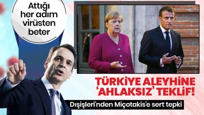 Dışişlerinden, Yunan Başbakanı'nın 'Türkiye ile ilgili Almanya ve Fransa'ya ilettiği mektuba' tepki