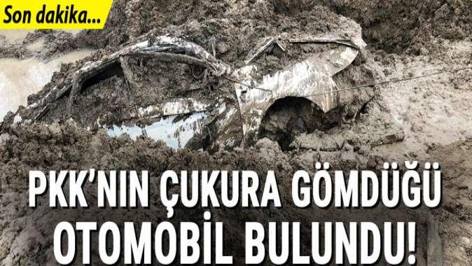 Diyarbakır'da PKK'nın çukura gömdüğü otomobil bulundu