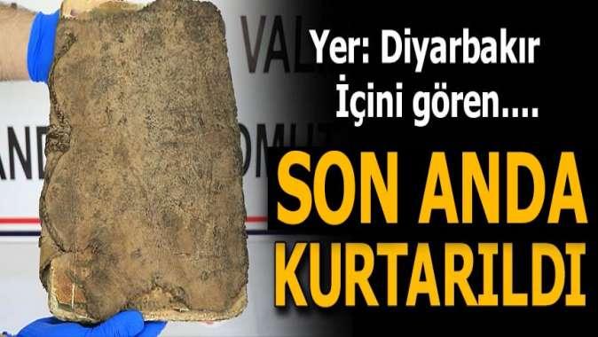 Diyarbakır'da 1400 yıllık dini motifli kitap ele geçirildi