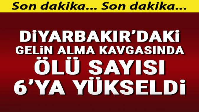 Diyarbakır'da silahlı kavgada ölü sayısı 6'ya yükseldi