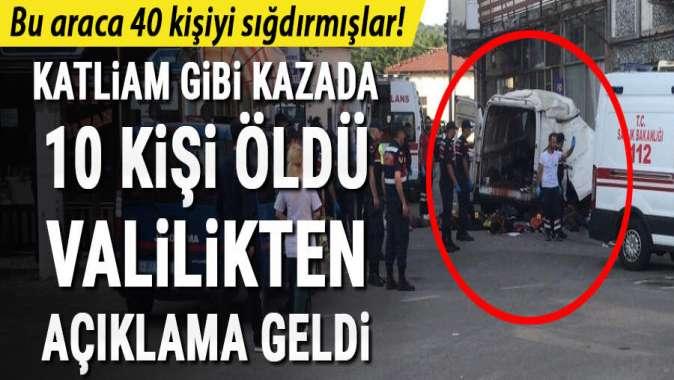 Edirne'de göçmenleri taşıyan araç kaza yaptı! 10 kişi öldü...