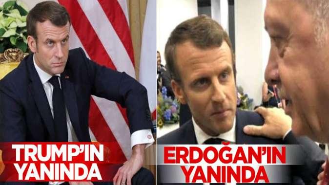 Erdoğan ile Macron'un fotoğrafı olay oldu!