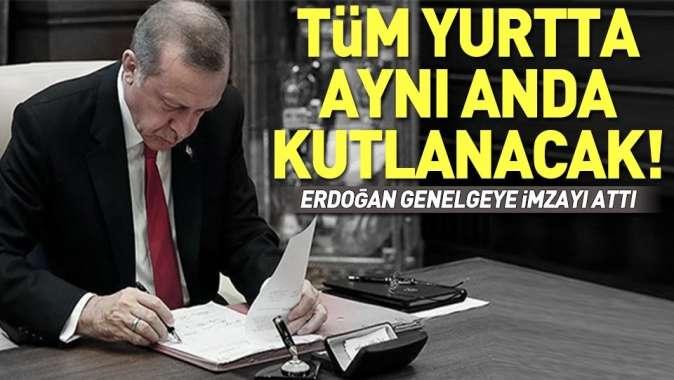 Erdoğan'dan 19 Mayıs genelgesi.