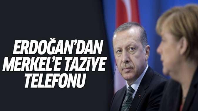 Erdoğandan Almanya Başbakanı Merkele taziye telefonu