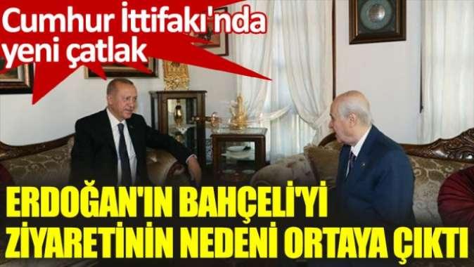 Erdoğan'ın Bahçeli'yi ziyaretinin nedeni ortaya çıktı