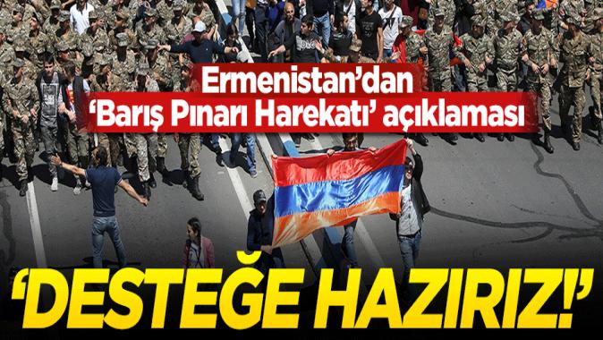 Ermenistan'dan Barış Pınarı Harekatı açıklaması: Desteğe hazırız!