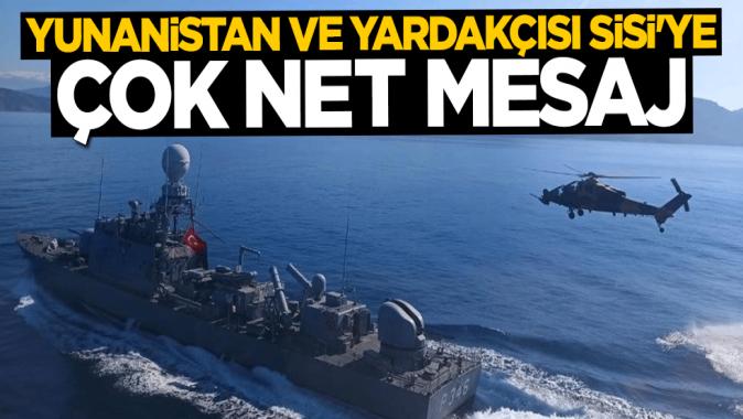 Ersin Tatar'dan Yunanistan ve yardakçısı Sisi'ye çok net mesaj: