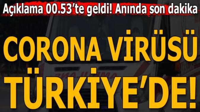 Fahrettin Koca 'Türkiye'de corona virüsü hangi ilde görüldü?' sorusuna bu cevabı verdi!
