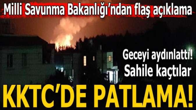 Girne'de askeri bölgedeki cephanelikte patlama meydana geldi