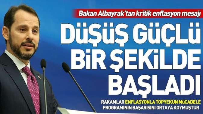 Hazine ve Maliye Bakanı Berat Albayraktan enflasyon açıklaması.