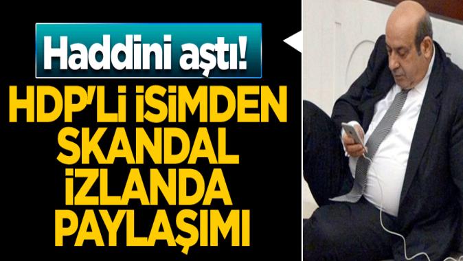 HDPli isimden skandal İzlanda paylaşımı... Haddini aştı!