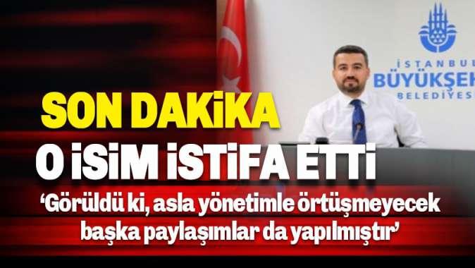 İBB iştiraki İSBAKa atanan Bahadır Yetkin istifa etti.