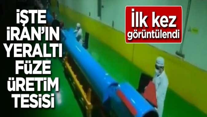 İlk kez görüntülendi! İşte İranın yeraltı füze üretim tesisi