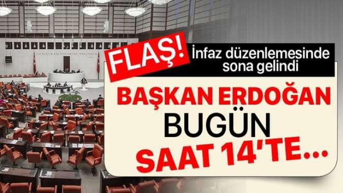 İnfaz düzenlemesinde sona gelindi: Başkan Erdoğan, Adalet Bakanı Gül ile görüşecek.