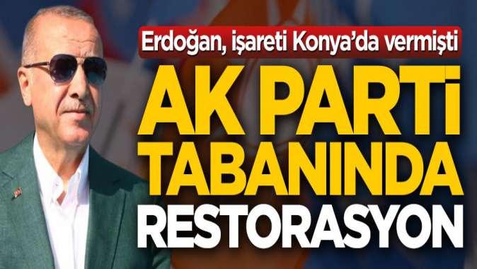 İşareti Erdoğan vermişti! AK Parti tabanında restorasyon