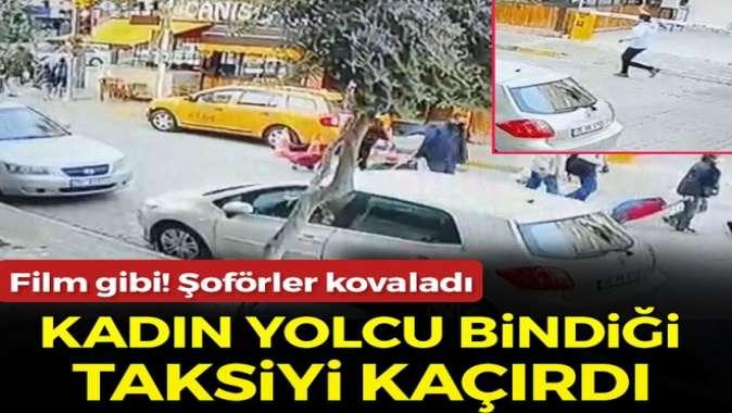 İzmir'de taksiyi kaçırıp bir yayaya çarpan kadın, kovalamacayla yakalandı