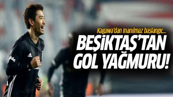 Kagawadan müthiş başlangıç! Beşiktaştan gol yağmuru: 6-2