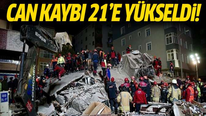 Kartalda çöken binada can kaybı 21 oldu!