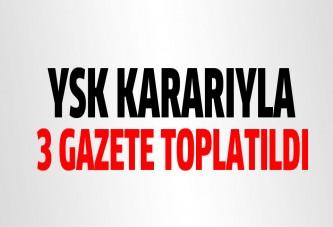 Kıbrıs'ta yasakları delen gazeteler toplatıldı