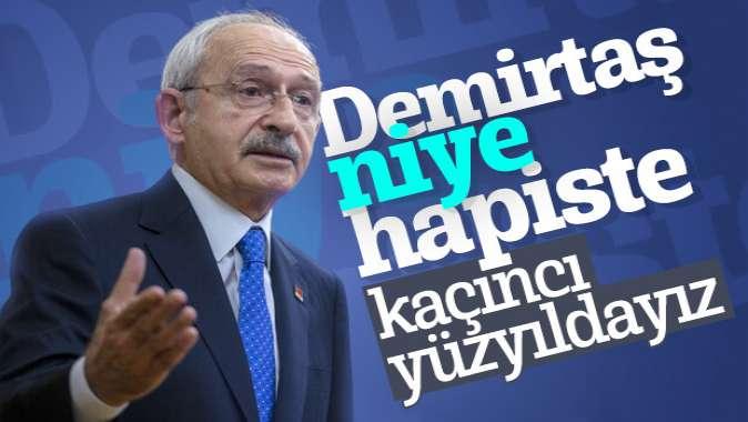 Kılıçdaroğlu, Selahattin Demirtaşın tahliyesini istedi