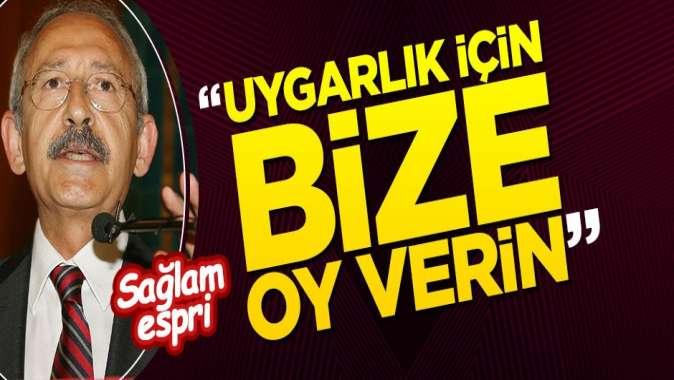 Kılıçdaroğlunun sözleri güldürdü: CHPye oy vermek uygarlığa oy vermektir