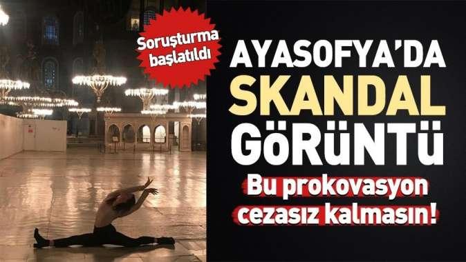 Leyla Alatondan skandal Ayasofyada dans provokasyonu.