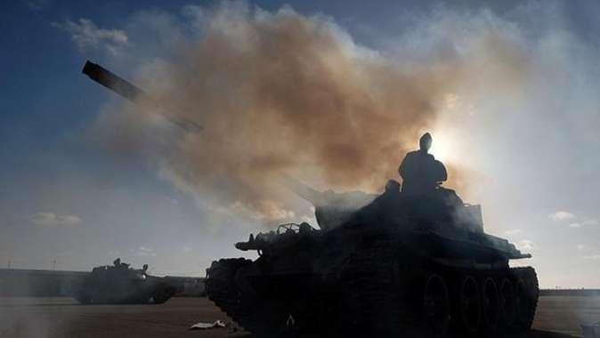 Libyada UMH güçleri Haftere bağlı bir savaş uçağını düşürdü.