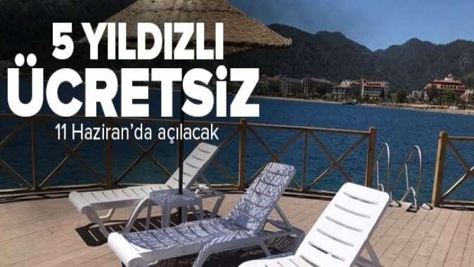 Marmaris'in beş yıldızlı ücretsiz halk plajı! 11 Haziran' da açılacak.
