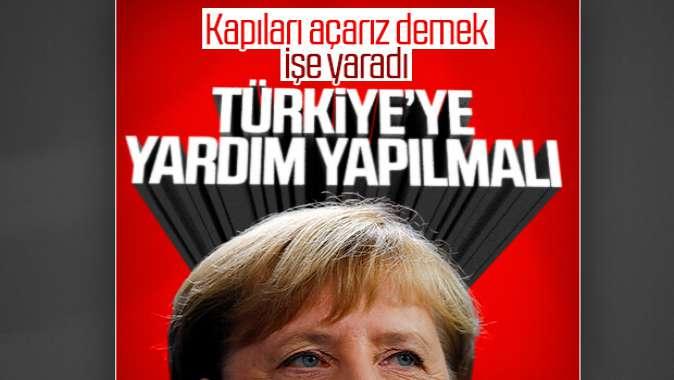 Merkel, Türkiyeye yardım edelim diyor
